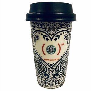 Starbucks Jonathan Adler Red Ceramic Travel Mug